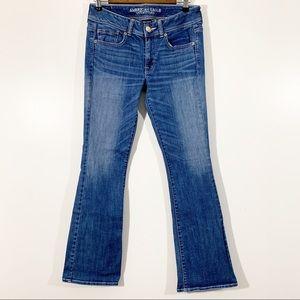 American Eagle Jeans Size 6 Kick Boot Dark Wash
